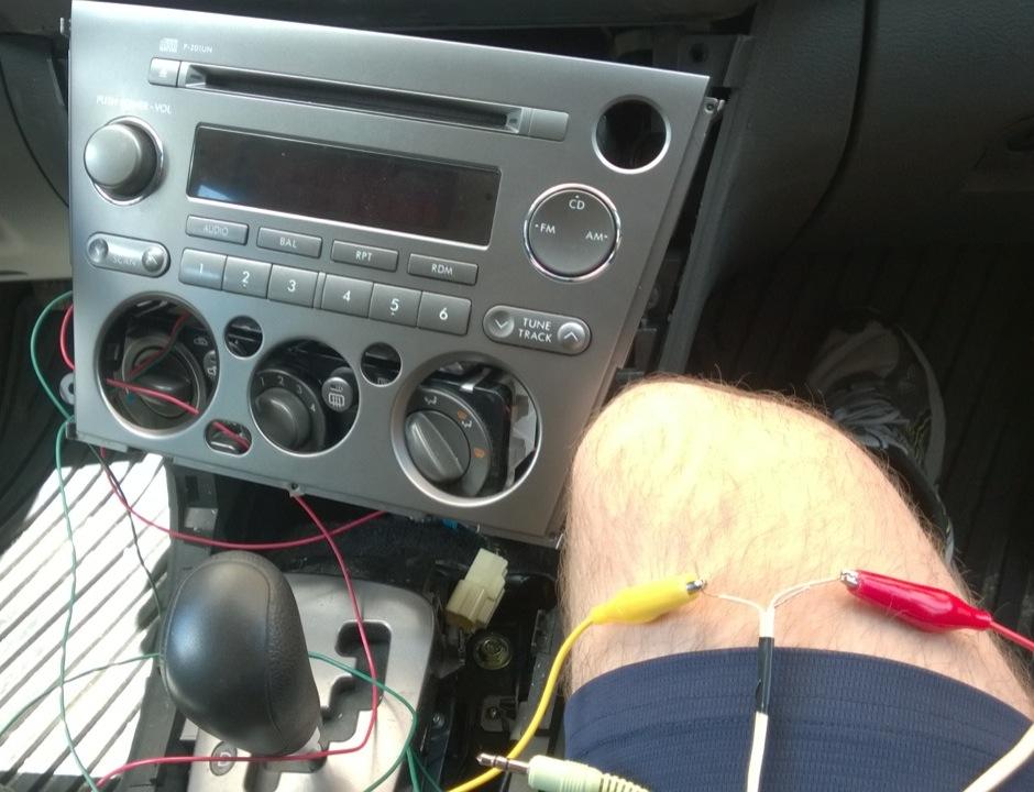 Adding an Auxiliary Audio Input to a 2005 Subaru Outback