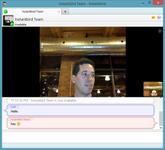 Screenshot of first working call over Instantbird WebRTC.